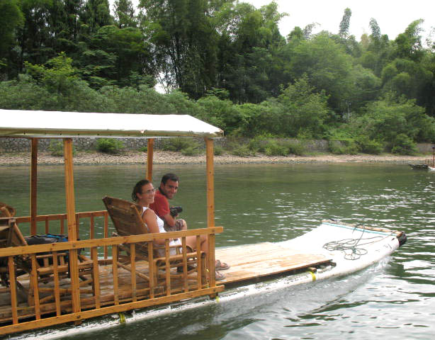 backup bamboo raft