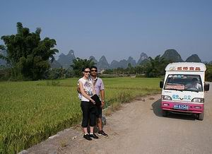 rice paddies surrounded by peaks, Yangshuo