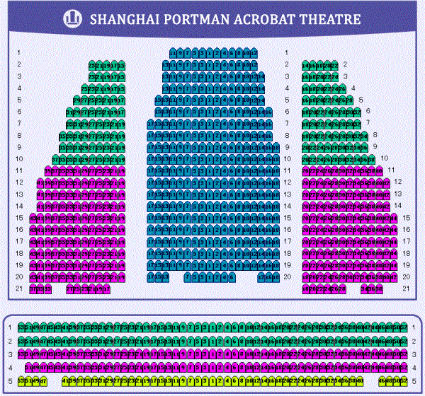 Map of Shanghai Portman Acrobat Theatre